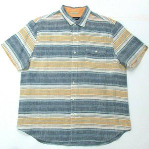 Tommy Bahama Striped 100% Linen Button Shirt